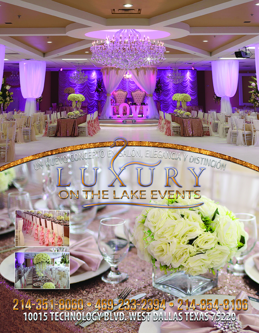luxury lake salon de fiesta