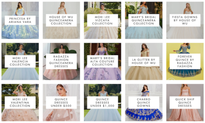ABC FASHION QUINCEANERA DRESS BRANDS